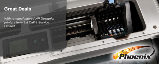 Great deals with re-manufactured HP Designjet Printers from 1st Call 4 Service Limited